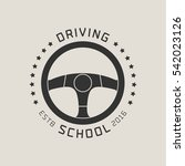 driving license school vector... | Shutterstock .eps vector #542023126