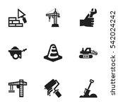 set of 9 editable building... | Shutterstock .eps vector #542024242