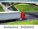 truck transportation | Shutterstock . vector #542035642