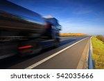 truck transportation | Shutterstock . vector #542035666