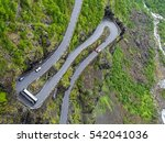 overhead view of coach going... | Shutterstock . vector #542041036