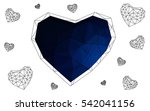 dark blue heart isolated on...