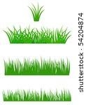 set of fresh summer grass for... | Shutterstock .eps vector #54204874