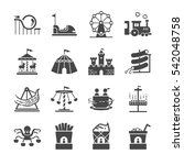 theme park icons set. included... | Shutterstock .eps vector #542048758
