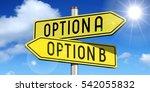 option a  option b   yellow... | Shutterstock . vector #542055832