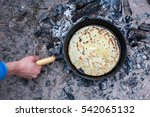 Cooking Pancakes On The Fire I...