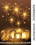 happy new year 2017   gelukkig... | Shutterstock . vector #542068696