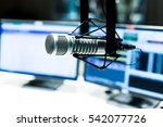 modern equipment in broadcast... | Shutterstock . vector #542077726