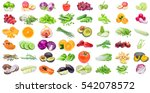 collection of fruits and... | Shutterstock . vector #542078572