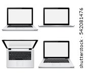 laptop with blank screen... | Shutterstock .eps vector #542081476