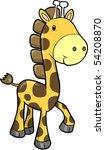 safari giraffe vector... | Shutterstock .eps vector #54208870