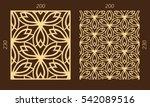 laser cutting set. woodcut... | Shutterstock .eps vector #542089516