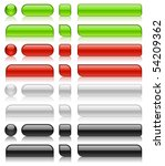 glossy web buttons of different ... | Shutterstock .eps vector #54209362
