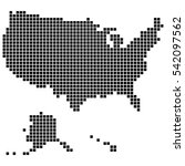 usa map made of square dots ... | Shutterstock .eps vector #542097562