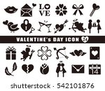 valentine icon set | Shutterstock .eps vector #542101876