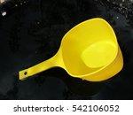 plastic water dipper floating... | Shutterstock . vector #542106052