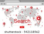 flat style browser search... | Shutterstock .eps vector #542118562
