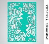 die cut card. laser cut vector... | Shutterstock .eps vector #542119366