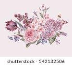 shabby vintage garden... | Shutterstock . vector #542132506