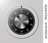combination  code lock number.... | Shutterstock .eps vector #542143456