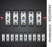 combination  code lock number.... | Shutterstock .eps vector #542143462