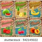 fruit vintage banner | Shutterstock .eps vector #542145022