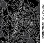 black   white vector map of... | Shutterstock .eps vector #542147302