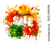 text sale in paper style on... | Shutterstock . vector #542149696
