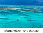 aerial view on maldives island  ... | Shutterstock . vector #542150032