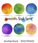 colors balls in watercolor... | Shutterstock .eps vector #542155642