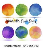 colors balls in watercolor... | Shutterstock .eps vector #542155642