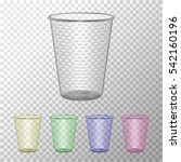 Transparent Plastic Cup Set....