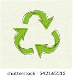 eco friendly. ecology concept... | Shutterstock .eps vector #542165512
