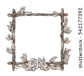 Square Frame Made Of Branches...