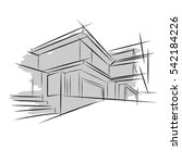 architecture. sketch. drawing... | Shutterstock .eps vector #542184226