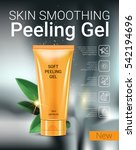 skin smoothing peeling gel ads. ... | Shutterstock .eps vector #542194696