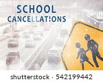 text school cancellations and... | Shutterstock . vector #542199442