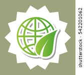 go green ecology icon vector...