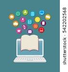 elearning online education icon ... | Shutterstock .eps vector #542202568