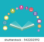 elearning online education icon ... | Shutterstock .eps vector #542202592