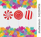 sweet candy shop icon vector... | Shutterstock .eps vector #542204956