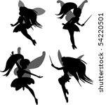 little fairies set | Shutterstock .eps vector #54220501