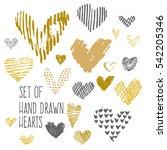 hand drawn hearts. design...   Shutterstock .eps vector #542205346
