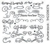 set hand drawing doodle new... | Shutterstock .eps vector #542208376