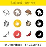 Cooking Ingredients Icons Set....