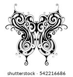decorative tattoo shaped as... | Shutterstock .eps vector #542216686