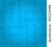 bright blue ornamental seamless ... | Shutterstock .eps vector #542219488