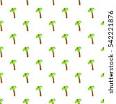 palm tree with coconuts pattern.... | Shutterstock .eps vector #542221876