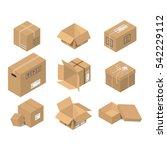 cardboard box vector packaging... | Shutterstock .eps vector #542229112