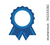 blue badge seal with ribbons... | Shutterstock .eps vector #542233282